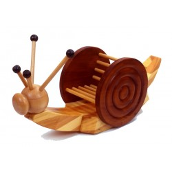 Wooden Rocking Snail