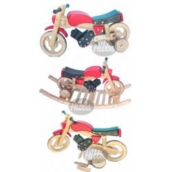 Sprinter Combi Trainer Rock & Ride Wooden Bike
